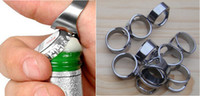 Wholesale 4 Stainless Steel Finger Ring Bottle Opener Bar Beer tool Color Silver