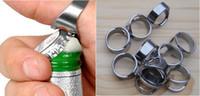Wholesale 4 Stainless Steel Finger Ring Bottle Opener Bar Beer tool Color Silver