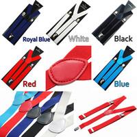 Wholesale 5 Bib Braces Suspenders Adjustable Unisex Neon UV Plain Mens Ladies Fancy Dress