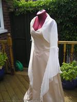Wholesale White Ivory New Organza Jacket Bridal Wrap Shrug Long Sleeve Bolero Wedding Party Prom Jacket wraps RL S1062
