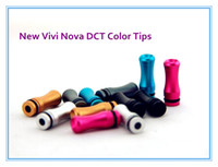 e cigarette vivi nova - 100pcs VIVI Nova DCT Candy Color Metal Drip Tips Alloy Mouthpiece for EE2 Clearomizers E cigarettes High Quality
