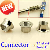 Electronic Cigarette adapter rings - Fashion Stainless Connector Ring for Atomizer ViVi Nova Protank DCT ViVi Tank Electronic Cigarette Clearomizer Adapter Ring Two Models
