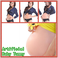 Small   Artificial Silicone Tummy Big Belly Fake Belly Doll For False Pregnancy New Hot Sell 1pcs