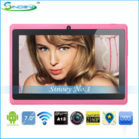 Wholesale Xmas gift Inch A13 MID Q88 dual camera Kids Tablet PC Android with Wifi Webcam D Flash11