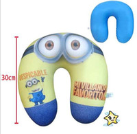 Wholesale 3Styles Despicable Me Jorge Dave Stewart Children U Shaped Head Rest Micro Foam Beads Traveling Neck Pillow