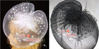 Wholesale Classic AMAZING Veil Feather Hair Clip Mini Top Hat Fascinator For Wedding Party Performing Topper