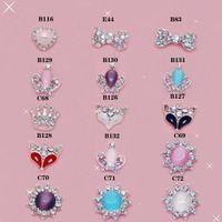Wholesale 100pcs Mix Fashion Style Nail Art D Alloy Metal Crystal Decoration Diamond Cellphone Rhinestone Glitter Charms Jewelry