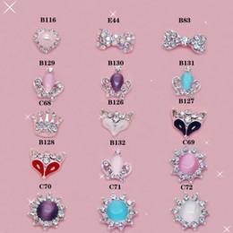 Wholesale Mix Fashion Style Nail Stickers Nail Art D Alloy Metal Crystal Decoration Diamond Cellphone Rhinestone Glitter Charms Jewelry