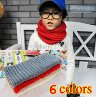 Wholesale 10pcs children s popular collar scarf women s neck cravat lady s fashion knitted scarves for winter
