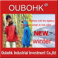 Wholesale 2013 fation heated clothing best selling Fashion Jacket Electric Heating For Winter Outdoor Working Sports Oubohk