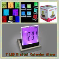 7 LED New Digital Calendar Electronic Timer Alarm Clock Ther...