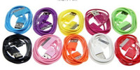 Wholesale iphone usb cable data snyc charger cable for iphone s iphone ipad mini ipod Colors Mixed