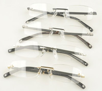 Wholesale MB brand eyeglasses frame MB150 Rimless metal designer Glasses frame Original Optical frame for Men