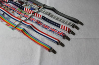 Wholesale NEW ARRIVAL FLAGS DYNAMIC STRIP MAN AND WOMEN S BRACES ADJUSTABLE SUSPENDERS MIX ORDER DROPSHIPPING