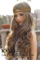 Wholesale quot Long Heat Exquisite Big Spiral Curl Cosplay Wig Latest Women Lady Long Blonde Wig Tappered Style Black Brown Red Wig