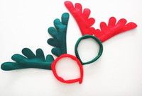 Wholesale XMAS GIFT Christmas decoration party supplies Reindeer Antler Santa Hat Christmas hat hoop best2011