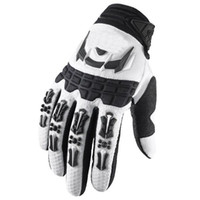 Wholesale Hot Racing Bomber Motocross Gloves for fox Padded Motorcycle Motorcross Mountain Biking Moto bicycle dirt bike Cycling Gloves White