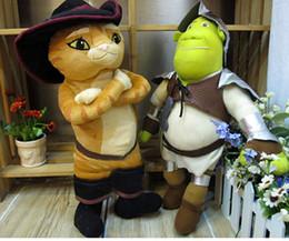 Wholesale 16 quot cm Plush Toys Puss In Boots Cat Shrek Soft Stuffed Animal Doll Cartoon For kids