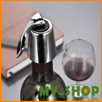 Wholesale pure stainless steel Stopper No leaking wine stopper wine bottle stopper wine cork