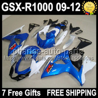 7gifts+ Seat Cowl For SUZUKI GSX- R1000 K9 Blue white 09 10 11...