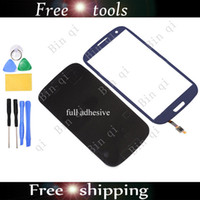 Wholesale New OEM Screen Outer Glass Lens For SAMSUNG Galaxy S3 SIII I9300 Blue With Tools flex cables and adhesives