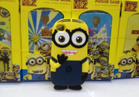Wholesale Cute D Cartoon Soft Silicone Despicable ME2 Minions yellow boy Cove Case For Apple Iphone G S iphone G with retail box
