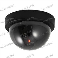Wholesale LLFA2122 Fake Dummy Dome Surveillance CAM Dummy Indoor Security CCTV Camera flashing for Home Camera LED
