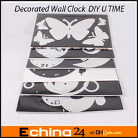 Wholesale 3D Wall Clock Home Decoration DIY Crystal Mirror Surface Wall Clocks Children s Wall Art Watch