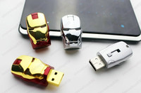 Wholesale super seller for new version Iron Man LED USB Flash Drive GB
