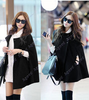 Wholesale 10pcs New Korea Women Charming Winter Casual Cloak Coat Cape Poncho Wool Warm Jacket