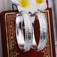 Silver beautiful indian jewellery - Lowest price noble jewellery Beautiful fashion sterling silver cute pretty Big round circle hot strange earring jewelry E361
