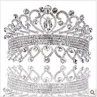 Headbands   Wedding Bridal crystal veil tiara crown headband CR185