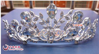 Cheap Wedding Bridal crystal veil tiara crown headband CR194