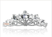 Headbands   2013 NEW Wedding Bridal crystal veil tiara crown headband CR137