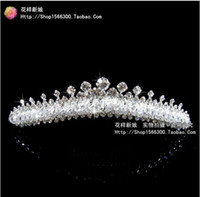 Headbands   100% new Wedding Bridal crystal veil tiara crown headband FK1001
