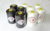 Wholesale 8000 yards white or black s Large volume sewing thread kao line edge high quality high speed polyester thread lock
