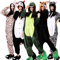 Wholesale new style the dinosaur flannel and fleece onesie pajamas unisex sleepwear