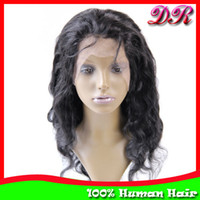 Wholesale Indian Remy Hair Lace Front Wigs B Body Wave quot quot Human Hair Glueless Lace wigs Discount Hand tied wigs