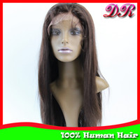 Wholesale Lace Front Wigs Brazilian Remy Hair Silky Straight Human Hair Glueless Lace wigs quot quot Hand tied wigs