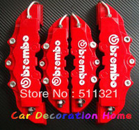 Wholesale 3D Brembo Style Universal Disc Brake Caliper Covers Front and Rear RED