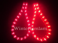12V   PVC 2 x 24cm Red Car LED Light Flexible strip 24Bulb EX car trim