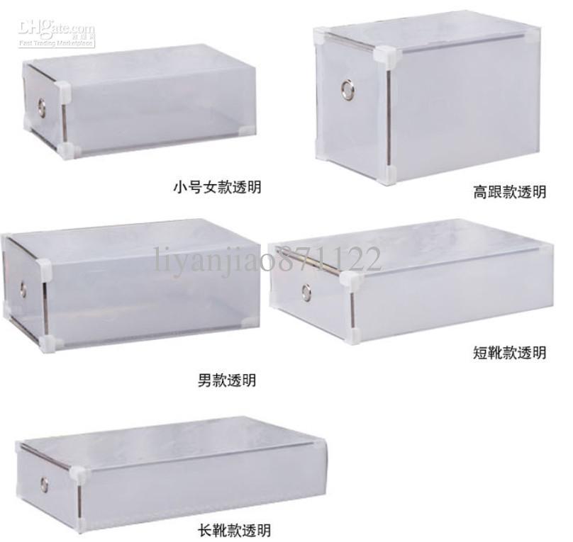 Pictures of 20pcs transparent foldable storage box plastic - Boite de rangement chaussures transparentes ...