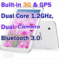 Wholesale inch Ampe A77 G Tablet PC Android Dual Core GPS Bluetooth WCDMA GSM Phone Calling