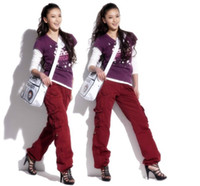 camo clothing - Women Clothing Winter Thicken Pants Women s Camo Black Cargo Pants Harem Hip Hop Sweat Pants Dance Costume Baggy Trousers
