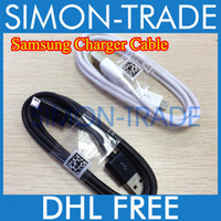 Wholesale OEM Micro USB Data SYNC Cable Adapter Charger Charging For Samsung Galaxy S3 S4 SIV i9500 i9300 Note II N7100 N7000 Black White Color