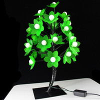LED Tree Lamp   15inch 37cm Tall Decorative Bonsai Style Tree Light with 32 multi-color changing LED Illuminated Blossom Black Trunk Branches LED Tree