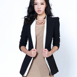 Wholesale Women Blazers Fashion Stitching Fake Pocket Three Quarter Sleeve Women Suit Au0063