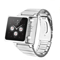 Yes Metal For iPod Nano Stainless Steel Nano Clip Watch Band for iPod Nano 6 6th 6gen Metal Wrist Sports Armband Free HKpost shipping 5pcs