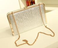 Wholesale High Quality Designer Women Evening Clutch Shoulder Bag Gold Silver Color B17