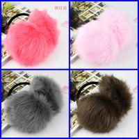 Wholesale 12pcs Christmas Promotion Women Fox Wool Backphones Warm Plush Winter Earmuffs Ear Muffs Cute Girls Ear Covers